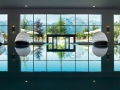 Interalpen-Hotel Tyrol Poolanlage mit Panormablick