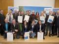 Verleihung des Kärnten-Gütesiegels an 12 neue Tourismusbetriebe durch Tourismus-Landesrat Christian Benger, Kärnten Werbung Christian Kresse sowie Geschäftsführer Günter Mussnig