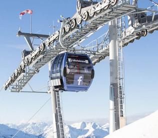 Weltneuheit: Zillertal Arena Facebook-Gondel