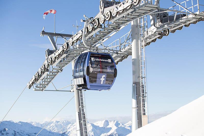 Zillertal Arena Facebook-Gondel