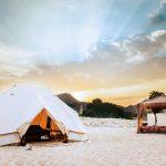 Luxuriös Zelten im Al Bustan Palace Hotel