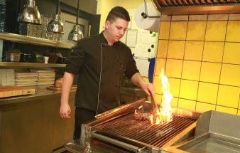 Steak vom  Lava-Stein-Grill im Flatschers