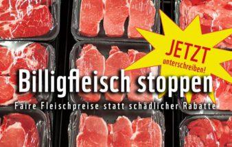 Stoppt Billigfleisch!