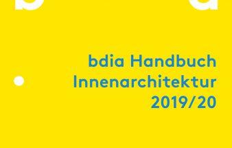 Buch: bdia Handbuch  innenarchitektur 2019/20